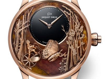 Jaquet Droz asombra con el nuevo Loving Butterfly Automaton Chinchilla Red