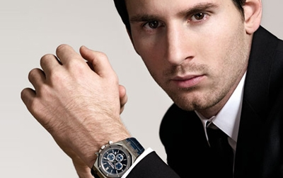 Close up al Audemars Piguet  Royal Oak dedicado a Messi
