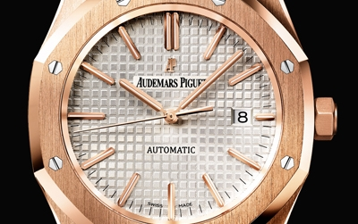 Close Up al Audemars Piguet Royal Oak de Oro Rosa