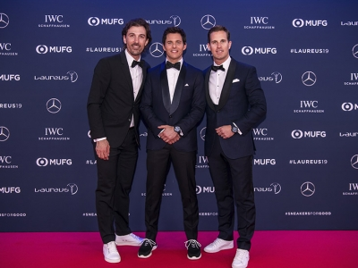 James Marsden e IWC entregaron los premios Laureus World Sports