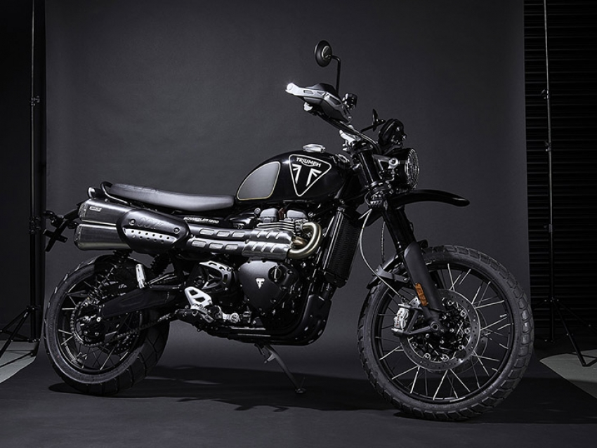 La exclusiva super moto Triumph Scrambler 1200 Bond Edition