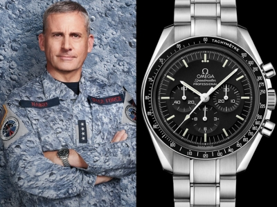 Steve Carell usa un fantástico Omega Speedmaster en Space Force